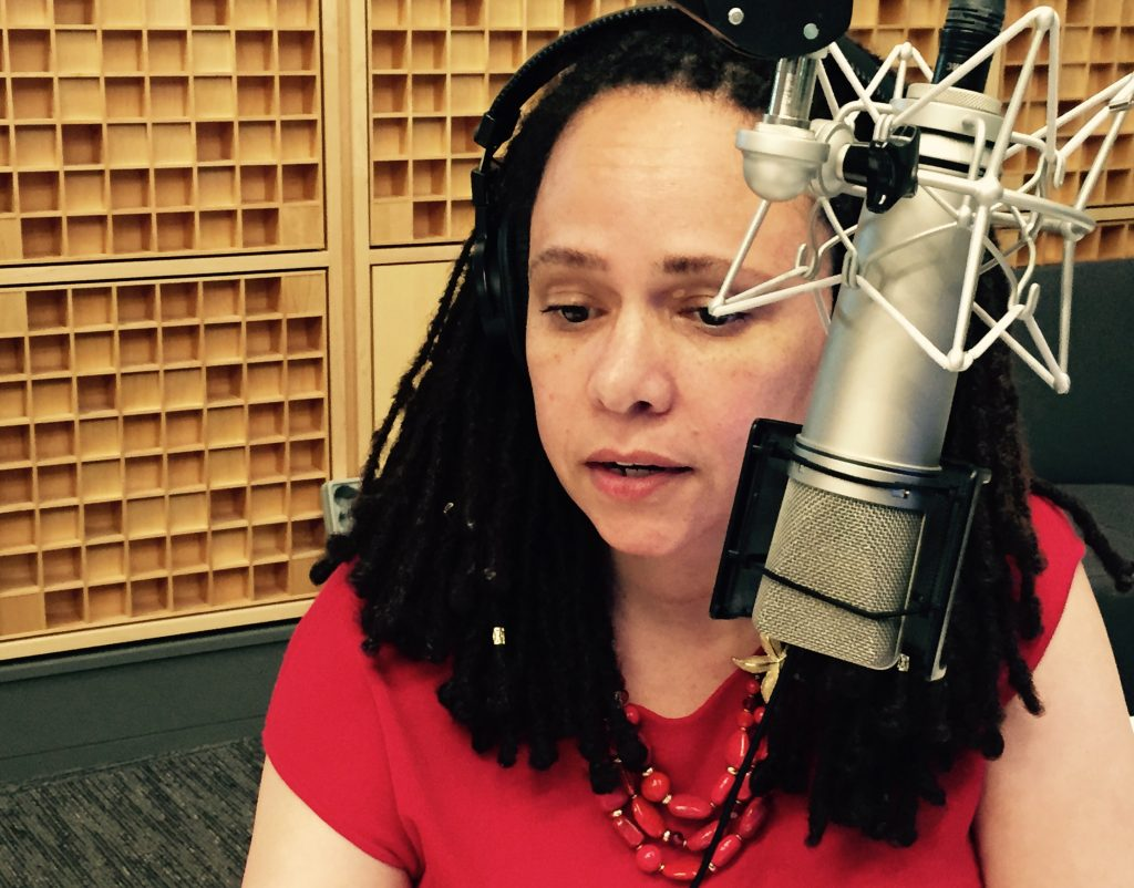 Korva Coleman has been anchoring NPR newscasts since 1990 (Photo by Alison MacAdam)
