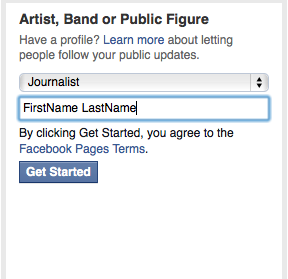 Select a name for your page