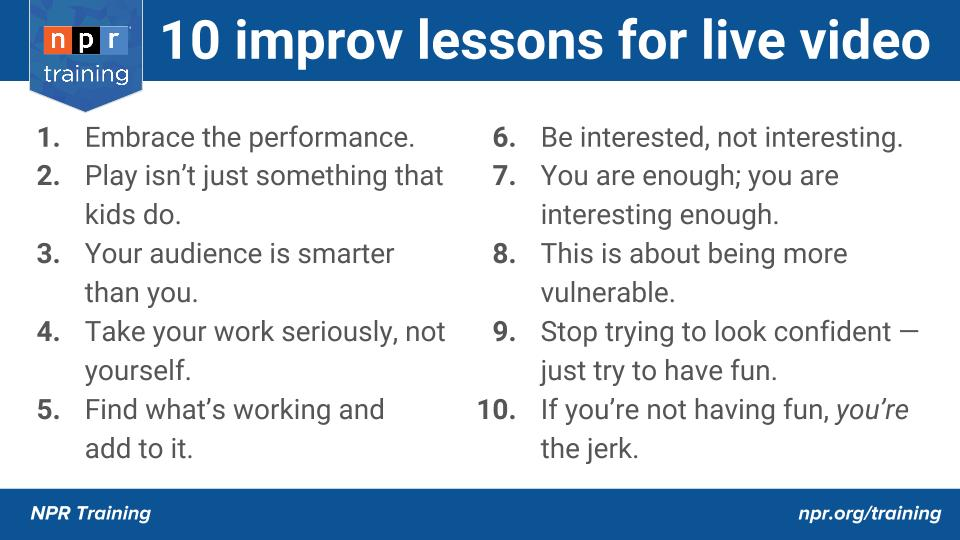 Improv training v2