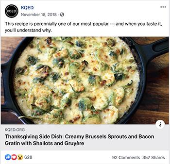 a facebook resurfacing of a thanksgiving recipe